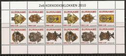 Surinam / Suriname 2010 Koekoeksklok Cuckoo-clock Clock MNH Sheet - Horloges