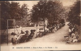 1929, CHATEL - GUYON, DANS LE PARC, LE TENNIS, POSTAL FRANCESA ESCRITA AL DORSO, TEMA TENIS - Tenis