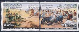 Libya, Scott # 932 A-b MNH Battle Of Ain Zara, 1981 - Libya