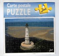 Cp , Carte à Système , 1 Carte Postale Puzzle + 1 Enveloppe , PHARE , Neuve , Ed : Jack , 2 Scans , 15 X 15 Cm - Dreh- Und Zugkarten