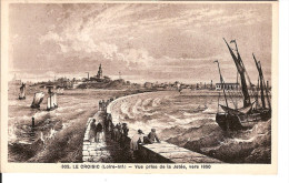 44 LE CROISIC CPA Chapeau N° 302 : Vue Prise De La Jetée Vers 1850 / Circulée 1936 (semeuse 20 Cts   DECENTREE !)) - Le Croisic