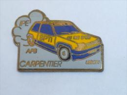 Pin's VOITURE DE RALLYE, CARPENTIER - LEBON - Rallye