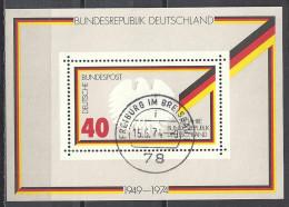 Deutschland 1974 Bund Michel Block 10 807 O Ersttag! 15.5.74 Freiburg. 25 Jahre Bundesrepublik Deutschland 1949 - Gebraucht