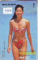 Télécarte Japon EROTIQUE (4357) ACTRESS * EROTIC  Japan PHONECARD EROTIK * BIKINI GIRL * BATHCLOTHES * FEMME * SEXY LADY - Fashion