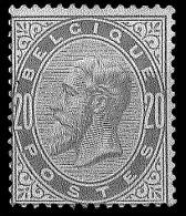Belgique 1883 n�39 ** 20c gris perle
