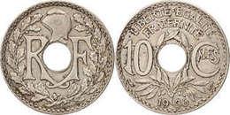FRANCE FRANCIA  France, Lindauer, 10 Centimes, 1936,, Copper-nickel - Francia