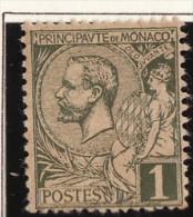 Monaco (C) 1891-94  Y&T N°11 * - 1c Prince Albert 1er - Monaco
