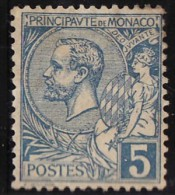 Monaco (C) 1891-94 Y&T N°13 * - 5c Prince Albert 1er - Monaco
