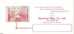 "Electrical Mfg. Co. Ltd., Montmagny, Quebec  9"" X 4"" 21 Cm X 10 Cm - Electricity & Gas"