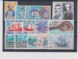 TAAF - 1976 à 1979 ** PETIT LOT AVEC SERIES COMPLETES UNIQUEMENT - COTE = 58 EURO - Colecciones & Series