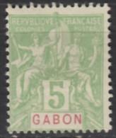 N° 19  - NSG - ( Neuf Sans Gomme ) - Gabon (1886-1936)