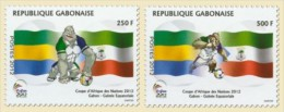 Gabon1102 Gabon 2011 Africa Cup of Nations Gabon and Equatorial Guinea Flag 2v