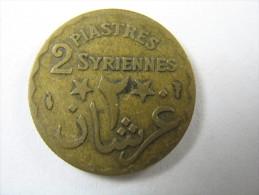 LEBANON LIBAN 2 PIASTRES  1924 NICE COIN  LOT 29 NUM 9 - Liban
