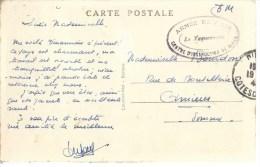 """22 Dinan FM""""armée De L'air Centre D'instruction De Dinan / Le Vaguemestre"""" - Marcophilie (Lettres)"""