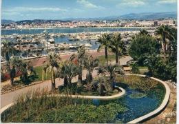 Cannes : Port Canto Et Les Jardins - Au Loin La Croisette N°06/029/272 La Cigogne - Cannes