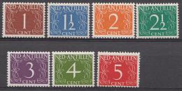 ANTILLES NEÉRLANDAISES NVPH Nr.:211-217 Cijferserie 1950  Neuf Sans Charniere / MNH / Postfris - Curaçao, Nederlandse Antillen, Aruba