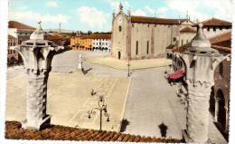 CO232 Montagnana (Padova) - La Piazza Maggiore Dai Comignoli Sud - Padova