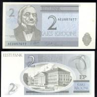 ESTONIA * 2 KROONI YEAR 1992 * P 70 * UNCIRCULATED BANKNOTE - Estland