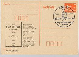 ESPERANTO GRABOWSKI DDR P86II-34-88 C35 Postkarte Privater Zudruck Leipzig Sost. 1989 - Esperanto