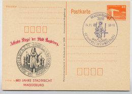 SIEGEL GERBERINNUNG Auf DDR P86II-35-88 C36 Postkarte Privater Zudruck STADTRECHT MAGDEBURG 1988 - Textil