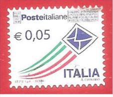 ITALIA REPUBBLICA USATO - 2010 - Posta Italiana - Prioritaria - Ordinaria - € 0,05 - S. 3180 - 6. 1946-.. Repubblica