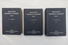 """""""Deutscher Ingenieur-Kalender 1939"""" Band 1-3 (I, II, III) - Calendars"""