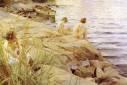 Zorn, Anders S-t-a-m-p-ed Card Oil Painting  0403 - Non Classés