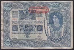 1000 KRONEN * 2-1- 1902 * BILLET CIRCULE* NR : 89810-2033 - Austria