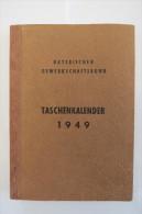 """""""Taschenkalender 1949"""" Bayerischer Gewerkschaftsbund - Calendars"""