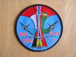 RED FLAG 2000 / 3 USA Exercice Belgian Air Force F-16 Falcon  ECUSSON PATCH BADGE Armée Avion Aviation - Ecussons Tissu