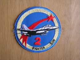 2 ème Escadrille 2 ème Wing Tac Florennes Falcon F-16 Belgian Air Force ECUSSON PATCH BADGE Armée Avion Aviation - Ecussons Tissu