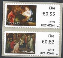 Irlande 2012 Timbres Distributeur  N°41/42 Noël - Automatenmarken (Frama)