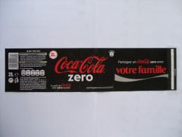 """Etiquette Soda COCA COLA ZERO """"Votre Famille""""  2 L - Autres"""