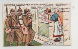 CPA Humoristique - HEURES INTERDITES - Etat Exceptionnel (originale Et Neuve) - 1914-18