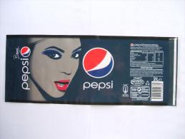 Etiquette Soda PEPSI Cola BEYONCE  2 L - Autres
