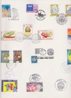 PHILEXFRANCE 11-21-JUIN 1982 PARIS (CACHET AVEC TIMBRES DE 35 PAYS DIFFERENTS) - Briefmarkenausstellungen