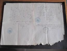 COMMUNE DE SLINS - 23 ET 28 Sept.1876- 2 Attestations De Changement De Domicile De Henriette HENRARD - Documents Historiques