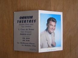 CALENDRIER 1961 JEAN MARAIS Acteur Cinéma Vedette Omnium Théatres Paris 8 ème  Autres Collections - Petit Format : 1961-70