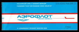 Russia USSR 1984 Plane Ticket To Moscow - Havana (Cuba) - Moscow, Rare !!! - Europe