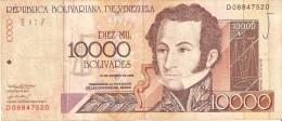 BILLETE DE VENEZUELA DE 10000 BOLIVARES DEL AÑO 2002 (BANKNOTE) - Venezuela