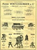 PUBLICITÉ AGRICULTURE FERME ANDRÉ WINTENBERGER FREVENT PAS DE CALAIS 62 SEMOIRS A TOUTES GRAINES ET SPÉCIAUX BETTERAVES - Publicités
