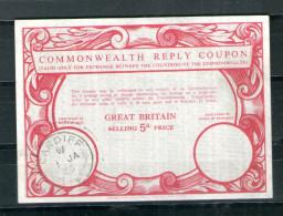 7143  IRC IAS CRI - Commonwealth Reply Coupon - Antwortschein T12 Great Britain Großbritannien Gest, Cardiff - Great Britain