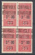 ALGERIE COLIS POST  YVERT N° 25 / MAURY N° 33 X  4   NEUF** TTB - Algérie (1924-1962)