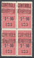 ALGERIE COLIS POST  YVERT N° 26 / MAURY N° 34 X  4   NEUF** TB - Algérie (1924-1962)