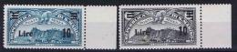 San Marino: Mi 239-240  Sa. 19-20  MNH/** 1942 Airmail, Sheet Margins,  Black Stamp Has A Discolored Spot On Gum - Luchtpost