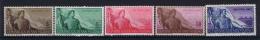 San Marino: Mi  397 - 401 Sa. 336 - 340  MNH/** 1948 - San Marino