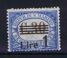 San Marino: Segnatasse Mi  58 Sa.50  MH/* 1936 - Strafport