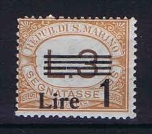 San Marino: Segnatasse Mi  60 Sa.51  MH/* 1936 - Strafport