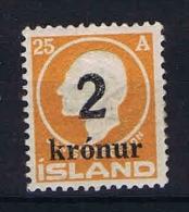 Iceland 1925, Mi Nr 119 MH/*  Signed/ Signé/signiert/ Approvato - 1918-1944 Autonoom Bestuur