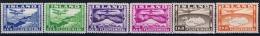Iceland 1934, Mi Nr 175-180 MH/* - Luchtpost
